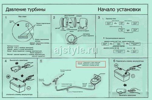 инструкция датчик давления турбины defi