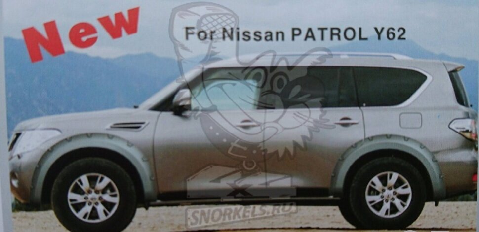 Расширители колесных арок-дефендер крыла Nissan Patrol Y62 2010-17г Bushwacker  70mm